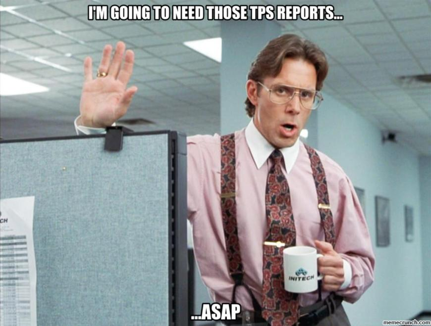 Ummm, yeahhh. We're going to need more reports. Lots of reports.
